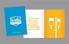 """Kids Cancer Alliance Donor Brochure"" for Kids Cancer Alliance by Power Creative. Tim Ofcacek, Art Director; Natalie Weis, Writer"