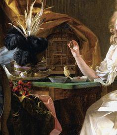 """Elegant Looking at a Miniature Portrait"" (detail) by Michel Garnier (1753-1819)."