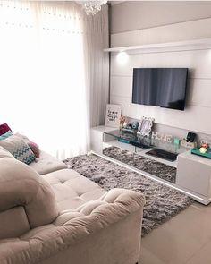 from - { Da nossa sala } 💖🙏🏼 My happy place! Small Apartment Interior, Small Apartment Design, Small Apartment Decorating, Small Apartments, Home Living Room, Living Room Designs, Living Room Decor, House Design, Decoration