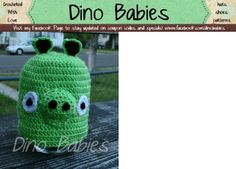Angry Birds Green Pig Beanie Pattern So cute