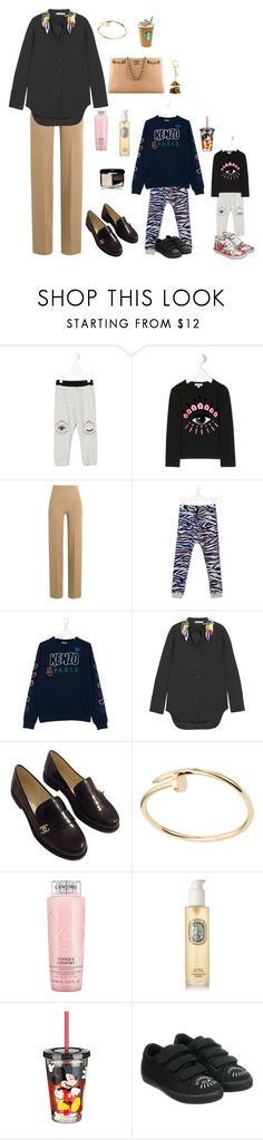 """""""taking the kids to the mall"""" by alaa88 ❤ liked on Polyvore featuring Kenzo, Emilia Wickstead, Christopher Kane, Chanel, Kerr®, Lancôme, Louis Vuitton, Diptyque and Disney"""
