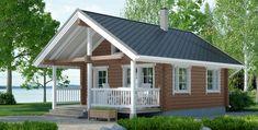 Valkoinen sopii myös tommosen puunvärisen rinnalle. Piristää Pole Barn House Plans, Pole Barn Homes, Tiny House Plans, Rest House, Tiny House Cabin, Prefab Homes, Log Homes, Style At Home, Modern Bungalow House Design