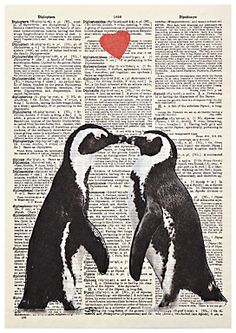 Art Press Two Penguins Valentine's Day Card