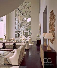 interior design ideas home Home Living Room, Living Room Designs, Living Room Decor, Bedroom Decor, Wall Decor, Home Interior Design, Interior Decorating, Partition Design, Kare Design