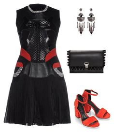 A fashion look from May 2016 featuring sleeveless short dress, alexander wang pumps and proenza schouler handbags. Ask The Dust, My Outfit, Outfit Ideas, Polyvore App, Office Outfits, Proenza Schouler, Alexander Wang, The Dreamers, Korean