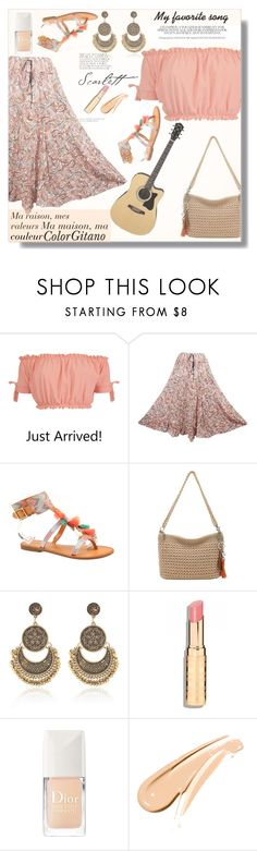 """""""My favorite song:Color Gitano"""" by eso-so ❤ liked on Polyvore featuring Pilot, Indigo Road, The Sak and Christian Dior"""