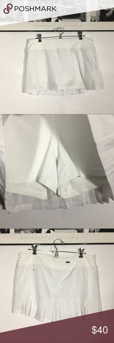 Fabletics L White Tennis Pleated Skirt Yoga Preowned Kate Hudson Fabletics Large White Tennis Golf Skort Pleated Skirt Fitness Yoga.In great condition .Please check photo before buying. Feel free to ask any questions. Thank you for viewing Fabletics Skirts Midi