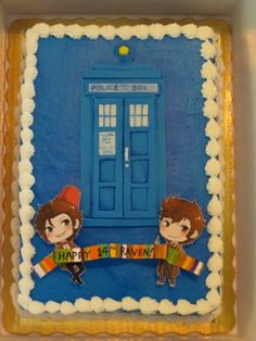 Doctor Who Cake - COOKING - I was asked by a friend to decorate a DW cake for her daughter's birthday. Grad Parties, Dinner Parties, Syn Free Gravy, 50th Birthday, Birthday Ideas, Dr Who Cake, Doctor Who Cakes, Cupcake Cakes, Cupcakes