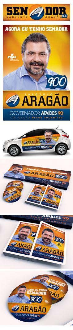 Identidade visual da campanha para Senador do candidato Sargento Aragão ano 2014
