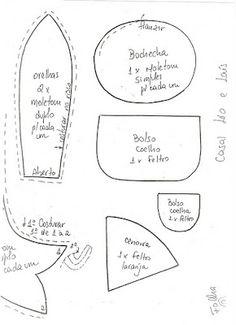 Casal de Coelhos Country com molde ~ Desenhos e Riscos Pintura Country