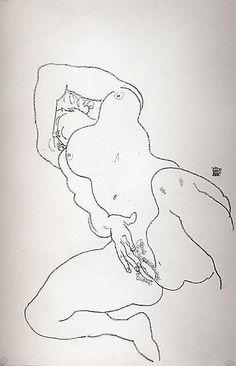 Reclining Nude Egon Schiele (Austrian, Tulln 1890–1918 Vienna)