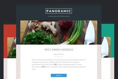 Check out Panoramic. A Widescreen Photoblog by Courtyard Themes on Creative Market