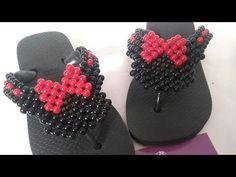 Como Fazer Chinelo Bordado da Minnie Mouse - YouTube