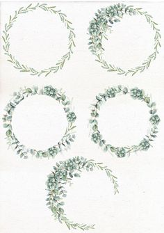 Good Photographs Eucalyptus Wreath frame Strategies This kind of DIY eucalyptus wreath is the best starting wreath for virtually every time of year as w Wreath Watercolor, Watercolor Wedding, Watercolor Flowers, Art Watercolour, Eucalyptus Branches, Eucalyptus Wreath, Greenery Wreath, Floral Wreath, Wreaths