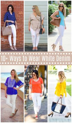 10 Ways to Wear White Denim for spring - #springstyle #whitedenim #whitejeansoutfit