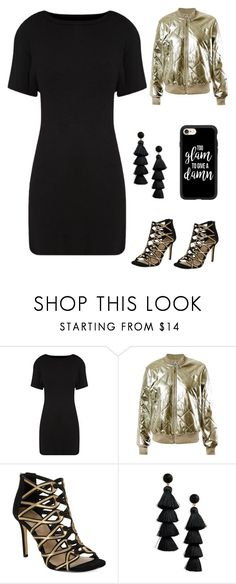 """""""after party"""" by im-karla-with-a-k ❤ liked on Polyvore featuring Sans Souci, 424 Fifth, BaubleBar and Casetify"""
