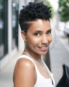 51 Edgy And Rad Short Undercut Hairstyles For Women - Hair Styles - Hair Style Ideas Short Natural Styles, Natural Hair Short Cuts, Short Natural Haircuts, Short Hair Cuts, Tapered Natural Hairstyles, Short Styles, Short Hair Undercut, Undercut Hairstyles, Black Hairstyles