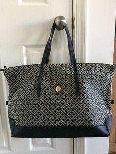 NWT Tommy Hilfiger JACQUARD CARSON WEEKEND TOTE Handbag