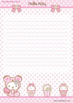 Papel de carta- Hello Kitty