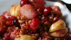 Farro with Pears, Chestnuts, and Cranberries - Farro Recipes | Anson Mills - Artisan Mill Goods