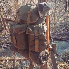 Military surplus ALICE pack for hiking