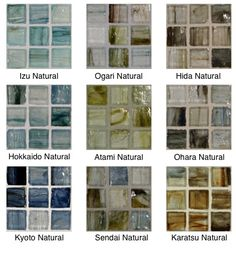 Colors available in Natural or Silk finishes