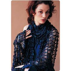 Hair Pin Lace Shawl pattern atbVogue Knitting