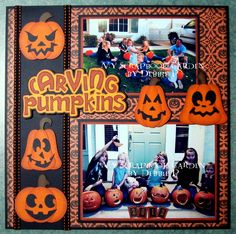 Layout using Carving Pumpkins file by Cuddly Cute Designs ~DT Debbie