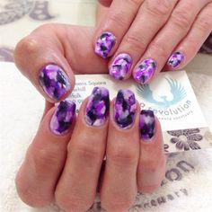 Marbel by Emmapbrock via @nailartgallery #nailartgallery #nailart #nails #mixedmedia #nailfashion #sharpie