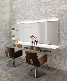 Salon Ambience Horizon Mirror Styling Station w/ Storage