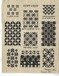 Estonian Knitting charts from Museum collection of ethnographic items. Motif Fair Isle, Fair Isle Chart, Fair Isle Pattern, Knitting Charts, Knitting Stitches, Knitting Patterns, Cross Stitch Embroidery, Embroidery Patterns, Cross Stitch Patterns