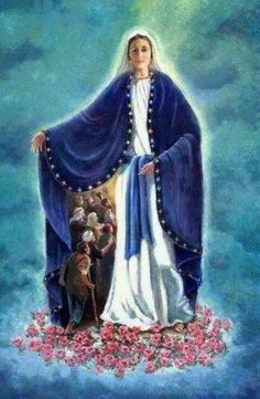 Art Photography O Blessed Virgin Mary, Protect us under thy blue mantle. Catholic Prayers, Catholic Art, Catholic Saints, Religious Art, Blessed Mother Mary, Divine Mother, Blessed Virgin Mary, Image Jesus, Catholic Pictures