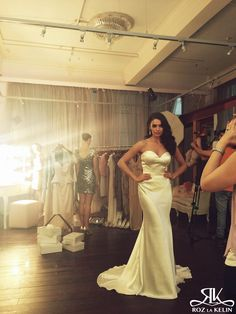 Behind the Scenes: 2014 Lookbook Shoot   The Hayworth gown from the Diamond Collection  #rozlakelin #bridal #bride #wedding #fashion #style #behindthescenes #sydney #australia #couture