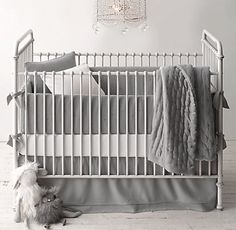 Embroidered Starry Night Nursery Bedding Collection | Restoration Hardware Baby & Child