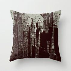 City 88 Throw Pillow by Jean-François Dupuis - $20.00