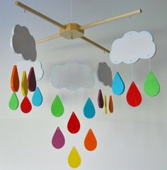 Mobile Nursery Decor Bedroom Decor Rainbow by 2HeartsDesire