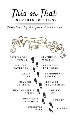 Instagram Templates HARRY POTTER EDITION - Hogwarts Locations