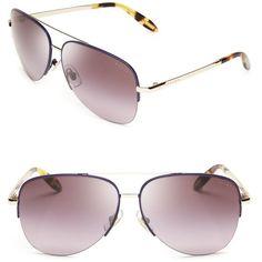 49250d72b9 Ralph Ralph Lauren Top Bar Aviator Sunglasses ( 89) ❤ liked on Polyvore