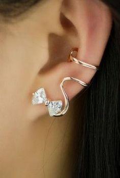 Lovely Bowknot Single Ear Cuff <3