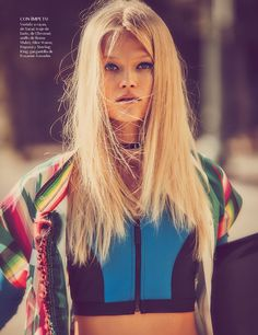 Vita Sidorkina turns up the heat for the February 2017 issue of Vogue Mexico. Photographed by Guy Aroch