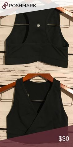 Lululemon racer back sports bra Preowned like new thick Quality racerback sport bra. In perfect condition. Only worn a couple times. No dot tag but is a sz 4 lululemon athletica Tops Tank Tops