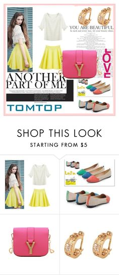 """TOMTOP+ 38"" by damira-dlxv ❤ liked on Polyvore featuring vintage"