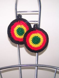 FREE SHIPPING// Crochet Roots Rasta Afrocentric by DylanaDesigns, $10.00