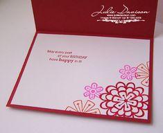 Simple Garden Card -- Inside  Garden greetings set
