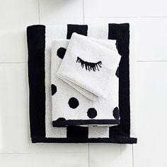 The Emily & Meritt Black and White Towel Set
