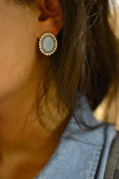 Earrings and Chambray.