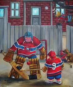 père et fils Tole Painting, Figure Painting, Sports Pictures, New Pictures, Hockey Drawing, Hockey Cards, Sports Art, Christian Art, Mma