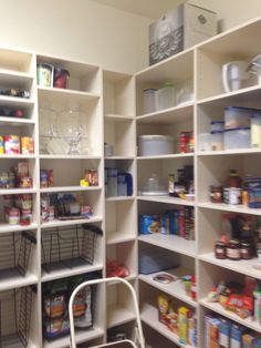 Closet Creations built this custom pantry to hold large appliances