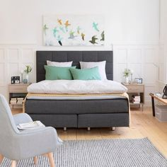NAVIER Boxspringbett Bed, Furniture, Home Decor, Decoration Home, Stream Bed, Room Decor, Home Furnishings, Beds, Home Interior Design