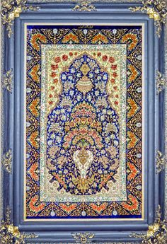 Flower in Vase Silk Persian Tableau Rug (Pictorial Carpet) | Exclusive collection of rugs and tableau rugs - Treasure Gallery